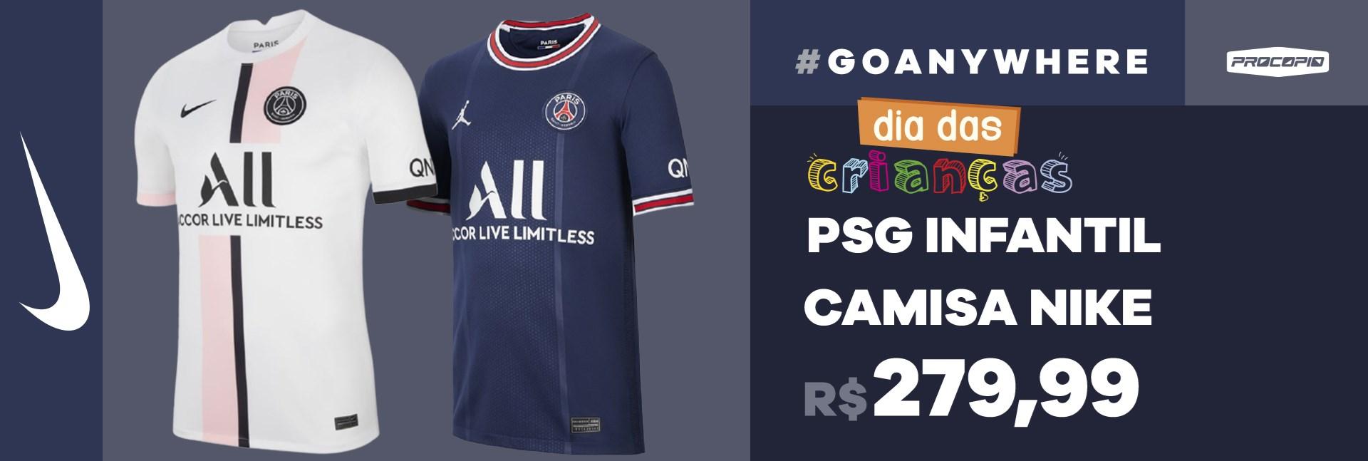Camisa Nike PSG I / II 2021/22 Torcedor Infantil
