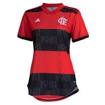 Camisa adidas CR Flamengo I 2021/22 Feminino