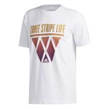 Camiseta adidas 3-Stripes Hoops Masculino
