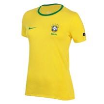 Camiseta Nike CBF Brasil Ringer Algodão Feminino