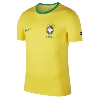 Camiseta Nike CBF Brasil Ringer Algodão Masculino