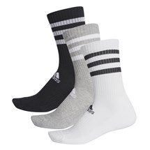Meia adidas 3-Stripes Pack com 3 pares Masculino