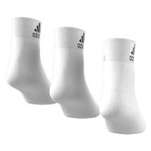 Meia Adidas Ankle Fina Cano Médio Com 3 Pares Masculino