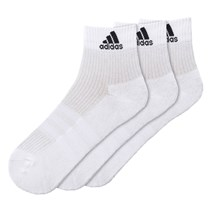 Meia Adidas Cushion 3S Cano Médio Com 3 Pares Masculino